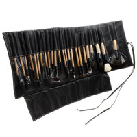 24pcs Professional Cosmetic Make Up Makeup Brush Blush Eyeshadow Set Kit with Black Leather Case  H4781 = 1931803716