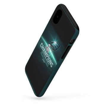 Philadelphia Eagles Champs Iphone/Galaxy Phone Tough Cases For All Models | Custom Phone Case Midnight Green