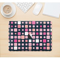 """The Scattered Pink Squared-Polka Dots Skin Kit for the 12"""" Apple MacBook"""