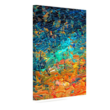 "Ebi Emporium ""Eteranl Tide II"" Teal Orange Canvas Art"