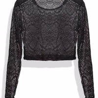 Sheila Sheer Lace Crop Tee