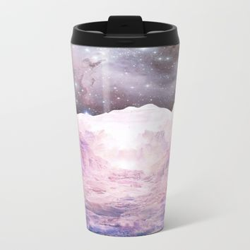 Misty Mountains Metal Travel Mug by Starseed Designs