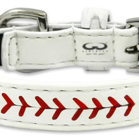 Los Angeles Angels Classic Leather Toy Baseball Collar