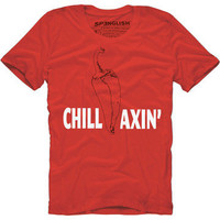 SPƎNGLISH: Chillaxin' Crew Neck Men's Red, at 29% off!