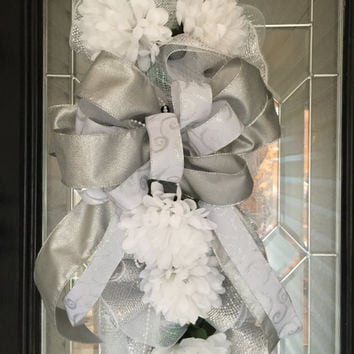 Sale!  Bridal Shower Decoration, Wedding Decoration, Wedding Gift, Wedding Wreath, Door Swag