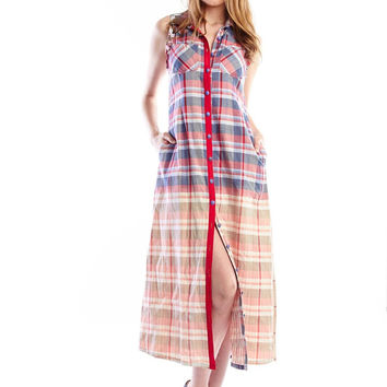 Whispering Willow Plaid Duster Long Cardigan