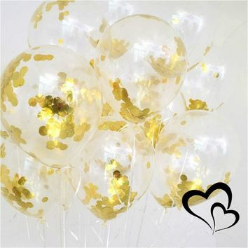 Clear Backpacks popular 5pcs/pack New 12 Inch Paper Gold Sequins Clear Balloon Things Confetti Ballon Transparent Wedding Birthday Party Decoration Ball AT_62_4