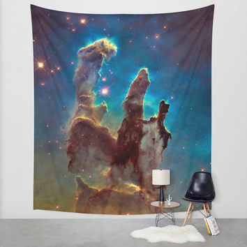 Wall Tapestry, Space Tapestry, Wall Hanging,Pillars of Creation Stars Sky, Space Wall Art, Large Photo Wall Art, Modern Tapestry, Home Decor