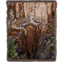 Dwarf With Pipe Throw Blanket