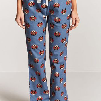 Cute Cat Graphic PJ Pants