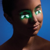 Glow in the Dark Laser Cut Floral Eyelashes