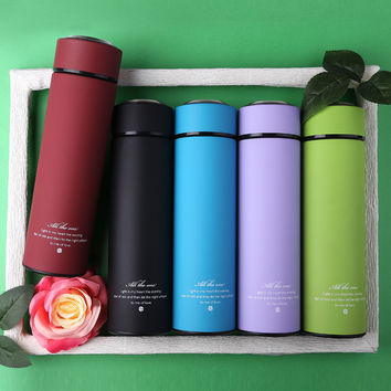 450ML Mug Thermos Cup Stainless Steel stainless Vacuum Bottle Insulated Thermos Coffee Mug Termal Cup Mugs Cups Vacuum Flask