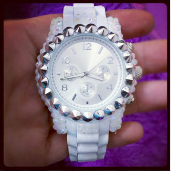 Edgy, Classic, and Chic Embellished Watch