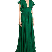 Elie Saab - Silk Evening Gown
