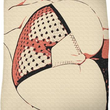 Hit that Booty! Throw blanket, sexy girl body, kinky lingerie, naughty bedroom decor