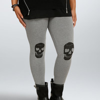Skull Knee Full Length Leggings