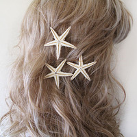 Starfish Pins, Starfish Hair Accessories, Beach Hair Accessories, Mermaid Hair , Wedding Beach Hair Accessories