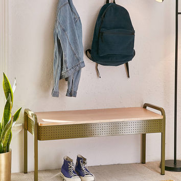 Jonah Perforated Storage Bench | Urban Outfitters