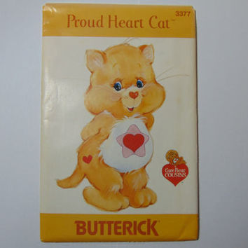 Butterick 3377 Proud Heart Cat Care Bear Cousin Sewing Craft Doll Pattern UNCUT