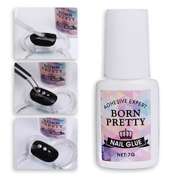 BORN PRETTY Nail Decoration Adhesive Glue Gel 7g Fast-dry for Rhinestone Manicure Nail Art Polish Tool NO NEED CURING UV Lamp