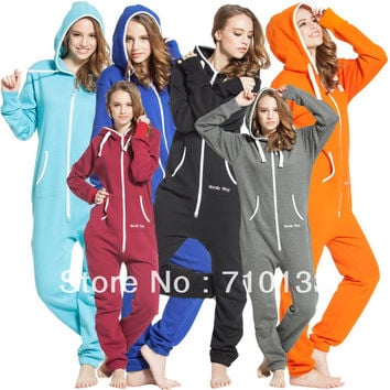 one piece jumpsuit Onesuits onezie all-in-one unisex unique zip hoody jump in suit kosedress