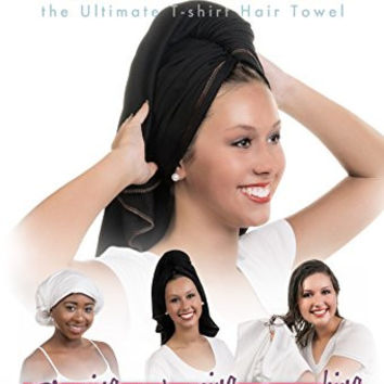Hair RePear the Ultimate T-Shirt Hair Towel-Absorbent 100% Premium Soft Smooth Cotton - Wrap, Plop, or Scrunch Your Straight, Wavy, or Curly Hair Without Causing Damage or Frizz - 29 x 45 inches