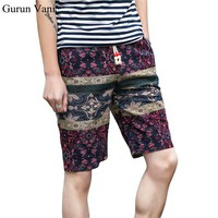 Brand Floral Beach Shorts Mens Sportswear 2018 Hot Sale Boardshorts Men Board Short Quick Bermuda Linen Shorts Size 5XL
