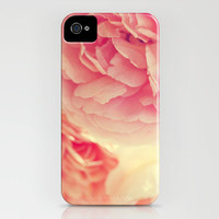 iPhone 5 Case - Flower Rose Photograph - iPhone 5 cover floral pink pastel cream white romantic girly shabby chic peonies Loves Whisper