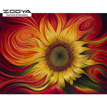 DIY 5D Diamond Mosaic Sunflowers Diamond Painting Cross Stitch Kit Diamonds Embroidery Shinny Square Drill Home Decoration BJ374