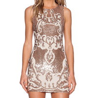 Needle & Thread Motif Sequin Dress in Blush