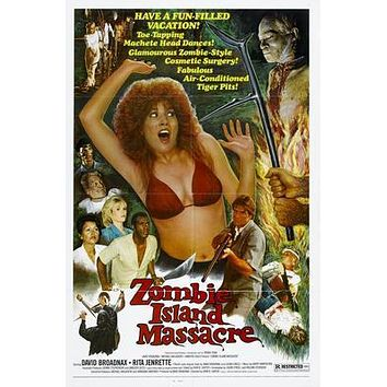 Zombie Island Massacre Movie poster Metal Sign Wall Art 8in x 12in
