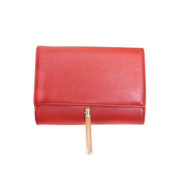 Cherish Clutch Handbag in Red
