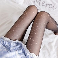 Diamond Pearlescent Hot Diamond Socks Bikini Slip Pantyhose