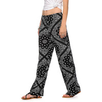 See You Monday Bandana Print Wide Leg Pants
