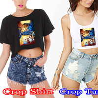 Beauty and the beast 12 3ef45ee7-fbb5-43bb-9266-8b22ebf518be For Crop Shirt and Crop Tank Sexy Shirt Women S, M, L, XL, 2XL*02*