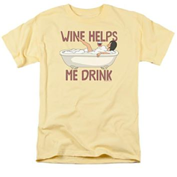 Bob's Burgers Wine Helps Me Drink T-Shirt