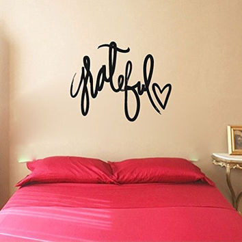 Grateful Vinyl Wall Words Decal Sticker Graphic