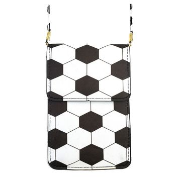 Soccer Cell Phone Crossbody Pouch with Strap