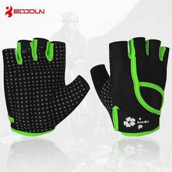 Boodun Men Women Half Finger Fitness Weight Lifting Gloves Protect Wrist Gym Training Fingerless Weightlifting Sport Gloves