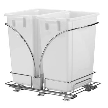 Glidez Double 9-Gallon Pull-Out Trash Cans