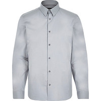 River Island MensGrey long sleeve shirt
