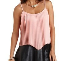 Pleated Chiffon Swing Tank Top by Charlotte Russe
