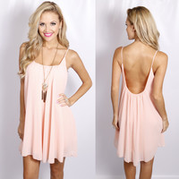 Personality Plus Dress: Peach