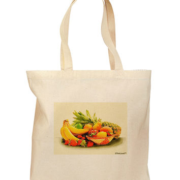 Watercolor Fruit Bowl 2 Grocery Tote Bag