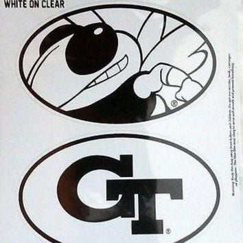 Georgia Tech Yellow Jackets 2-Pack EURO STYLE Oval Home Auto Decals Sticker