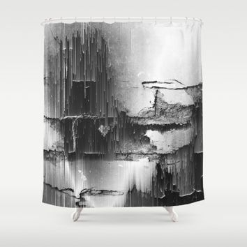 Crumbling Facade Shower Curtain by Ducky B