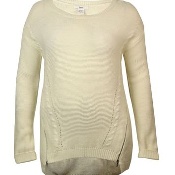 Bar III Women's Long Sleeve Cable Knit Zip Sweater