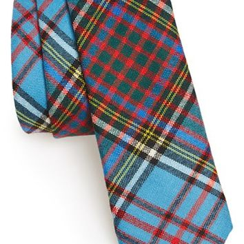 Men's Todd Snyder White Label 'Anderson' Plaid Wool Tie, Size Regular - Blue/green