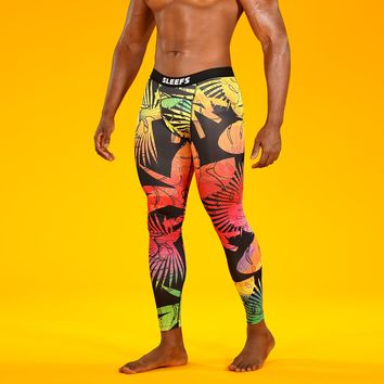 Tropical Vibes  Tights for Men