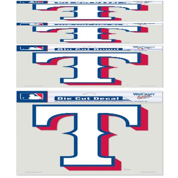 "TEXAS RANGERS LOGO 8""X8"" COLOR DIE CUT DECAL BRAND NEW  SHIPPING WINCRAFT"